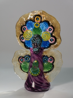 Mardi Gras Indian Vase Purple